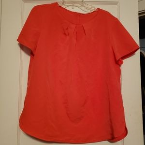 Short sleeve coral blouse